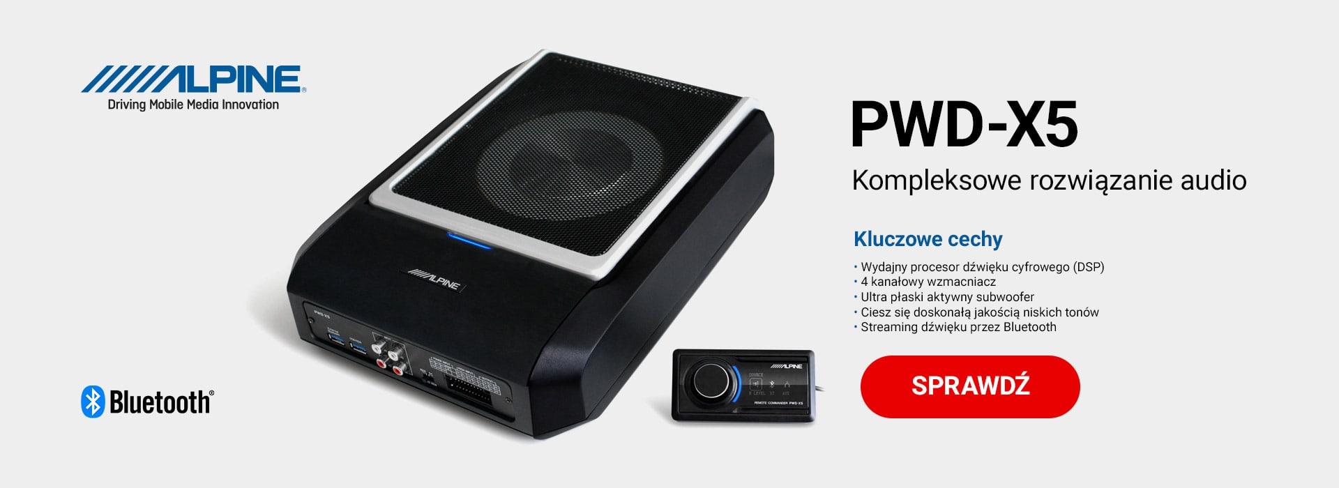 Procesor dźwięku Alpine PWD-X5 4.1-kanałowy cyfrowy (DSP) z aktywnym subwooferem